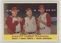 Ed Bailey, Birdie Tebbetts, Frank Robinson [Poor to Fair]