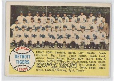 1958 Topps - [Base] #397.1 - Detroit Tigers Team (Checklist) (Alphabetical Checklist Back)