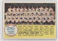 Detroit Tigers Team (Checklist) (Alphabetical Checklist Back) [Good to&nbs…