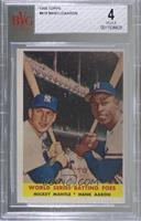 World Series Batting Foes (Mickey Mantle, Hank Aaron) [BVG 4 VG‑…
