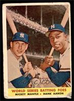 World Series Batting Foes (Mickey Mantle, Hank Aaron) [POOR]