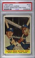 World Series Batting Foes (Mickey Mantle, Hank Aaron) [PSA3]