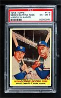 World Series Batting Foes (Mickey Mantle, Hank Aaron) [PSA 6 EX‑…