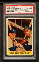 World Series Batting Foes (Mickey Mantle, Hank Aaron) [PSA 4]