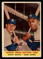 World Series Batting Foes (Mickey Mantle, Hank Aaron) [VG]