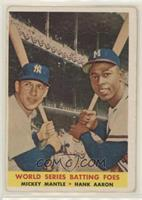 World Series Batting Foes (Mickey Mantle, Hank Aaron) [Good to VGR…