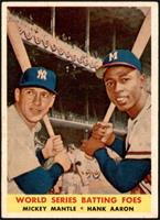 World Series Batting Foes (Mickey Mantle, Hank Aaron) [EX+]