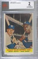World Series Batting Foes (Mickey Mantle, Hank Aaron) [BVG2GOOD]