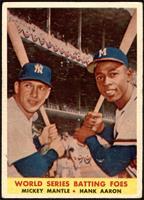 World Series Batting Foes (Mickey Mantle, Hank Aaron) [VG+]