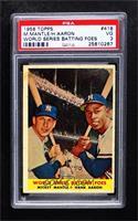World Series Batting Foes (Mickey Mantle, Hank Aaron) [PSA3VG]