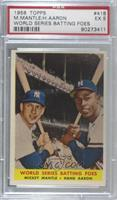 World Series Batting Foes (Mickey Mantle, Hank Aaron) [PSA 5 EX]