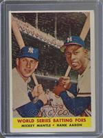 World Series Batting Foes (Mickey Mantle, Hank Aaron) [Poor]