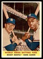 World Series Batting Foes (Mickey Mantle, Hank Aaron) [VGEX]