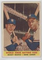 World Series Batting Foes (Mickey Mantle, Hank Aaron) [NonePoorto&n…