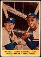 World Series Batting Foes (Mickey Mantle, Hank Aaron) [GOOD]