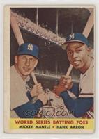 World Series Batting Foes (Mickey Mantle, Hank Aaron) [NoneGoodto&n…