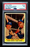 World Series Batting Foes (Mickey Mantle, Hank Aaron) [PSA 7 NM]