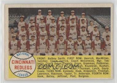1958 Topps - [Base] #428.2 - Cincinnati Reds Team (Sixth Series Numerical)