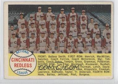 1958 Topps - [Base] #428.2 - Cincinnati Reds Team
