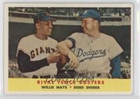 Rival Fence Busters (Willie Mays, Duke Snider) [PoortoFair]