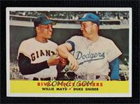 Rival Fence Busters (Willie Mays, Duke Snider) [Excellent]