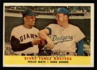 Rival Fence Busters (Willie Mays, Duke Snider) [EX]