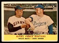 Rival Fence Busters (Willie Mays, Duke Snider) [VG]