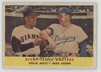 Rival Fence Busters (Willie Mays, Duke Snider) [Poor to Fair]