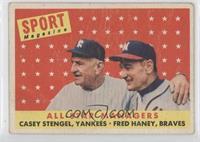 All-Star Managers (Casey Stengel, Fred Haney) [Noted]