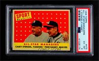 All-Star Managers (Casey Stengel, Fred Haney) [PSA6EX‑MT]