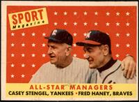 All-Star Managers (Casey Stengel, Fred Haney) [EX]