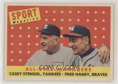1958 Topps - [Base] #475 - All-Star Managers (Casey Stengel, Fred Haney)