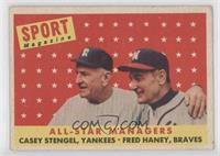 All-Star Managers (Casey Stengel, Fred Haney) [Good to VG‑EX]
