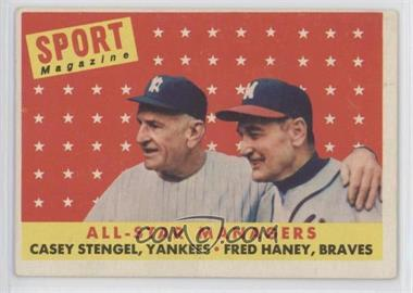 1958 Topps - [Base] #475 - All-Star Managers (Casey Stengel, Fred Haney) [PoortoFair]