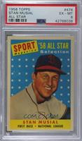 Sport Magazine '58 All Star Selection - Stan Musial [PSA6EX‑M…
