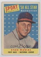Sport Magazine '58 All Star Selection - Stan Musial [Poor to Fair]