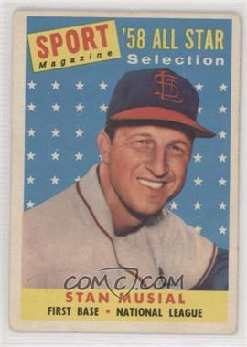 1958 Topps - [Base] #476 - Sport Magazine '58 All Star Selection - Stan Musial