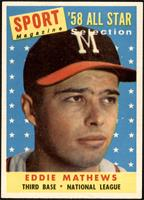 Sport Magazine '58 All Star Selection - Eddie Mathews [NM MT]