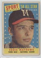 Sport Magazine '58 All Star Selection - Eddie Mathews [Poor]