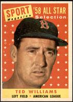 Sport Magazine '58 All Star Selection - Ted Williams [EX]