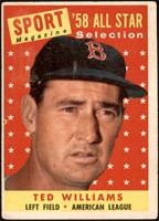 Sport Magazine '58 All Star Selection - Ted Williams [VG]