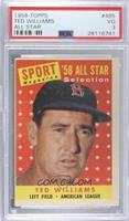Sport Magazine '58 All Star Selection - Ted Williams [PSA 3 VG]