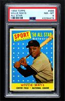 Sport Magazine '58 All Star Selection - Willie Mays [PSA 8 NM‑M…