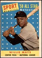 Sport Magazine '58 All Star Selection - Willie Mays [VG EX]