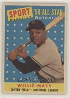 Sport Magazine '58 All Star Selection - Willie Mays [Poor to Fair]
