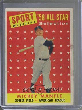 1958 Topps - [Base] #487 - Mickey Mantle [GoodtoVG‑EX]