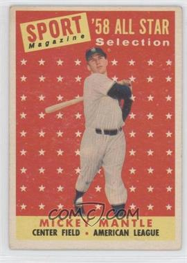 1958 Topps - [Base] #487 - Mickey Mantle [Good to VG‑EX]
