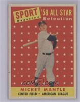 Sport Magazine '58 All Star Selection - Mickey Mantle [Excellent‑Mint]