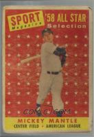 Sport Magazine '58 All Star Selection - Mickey Mantle [Poor]
