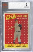 Sport Magazine '58 All Star Selection - Mickey Mantle [BVG 5 EXCELLEN…